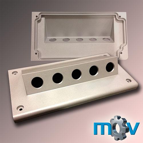 Tapa de aluminio para conexiones